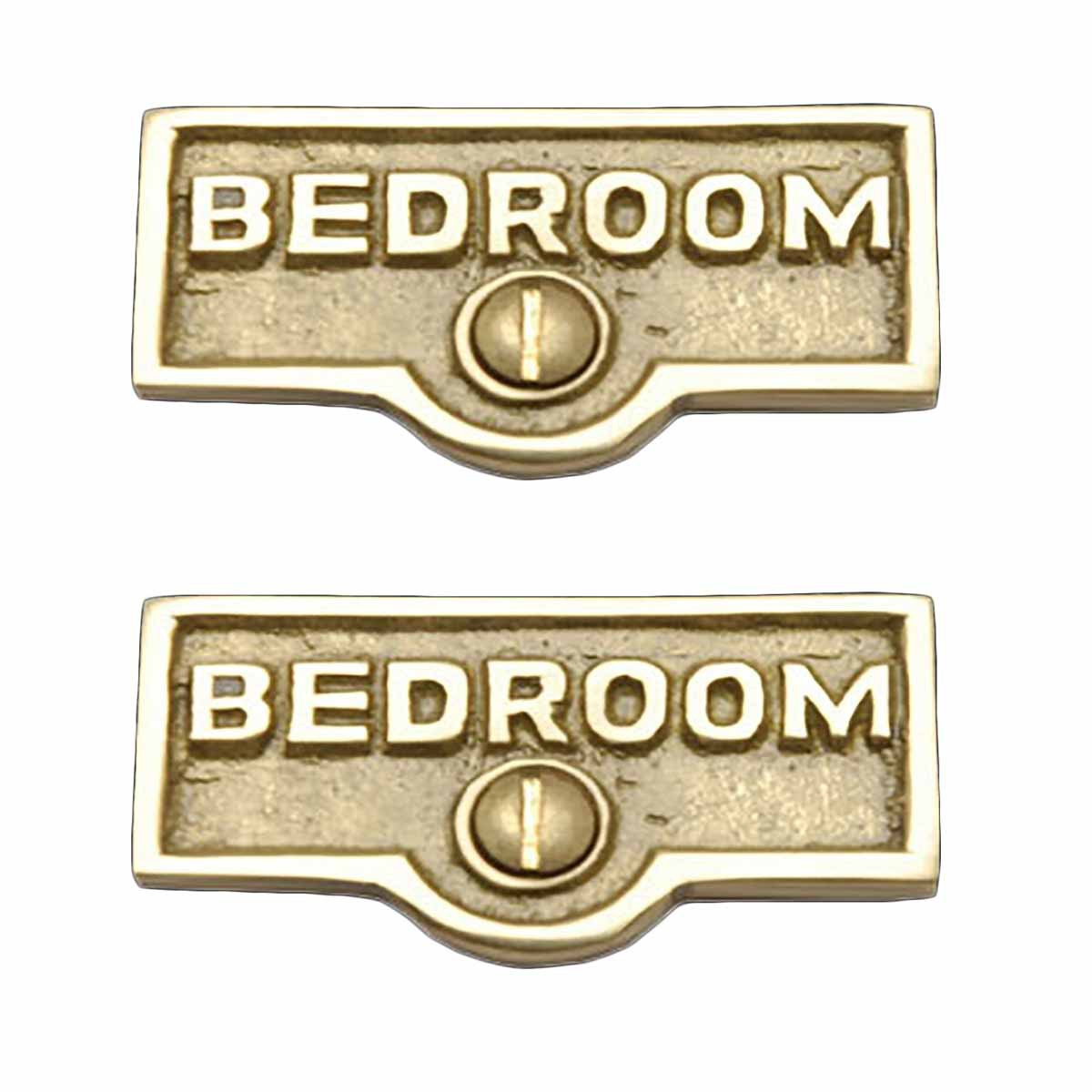 2 Switch Plate Tags Bedroom Name Signs Labels Lacquered Brass Renovator S Supply Walmart Com Walmart Com