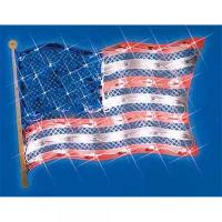"""14.5"""" Lighted Patriotic Fourth of July American Flag ..."""