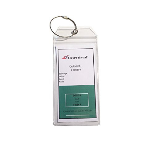 Russottidesign 4 X Cruise Luggage Tag Holders Premium Etag
