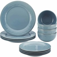 Rachael Ray Cucina 12 Pc Stoneware Dinnerware Set, Agave ...