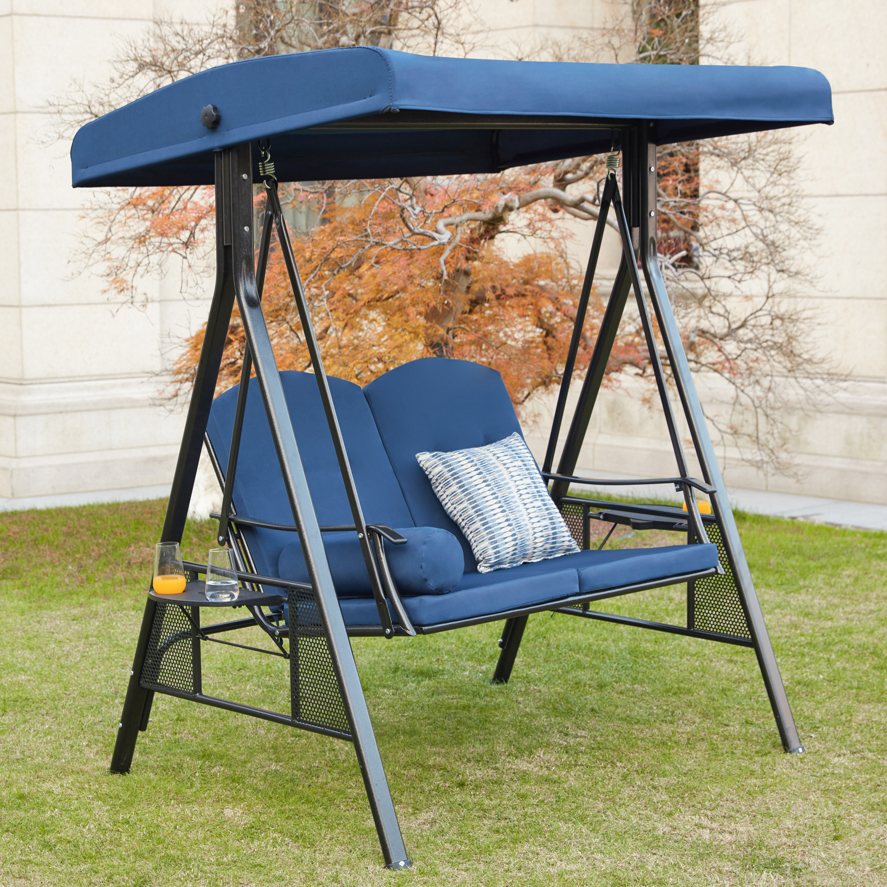 outdoor 2 seater swing chair