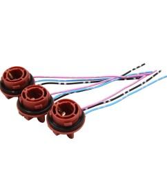 3pcs dc 12v 1157 bulb socket turn signal brake light wire harness connector [ 2000 x 2000 Pixel ]