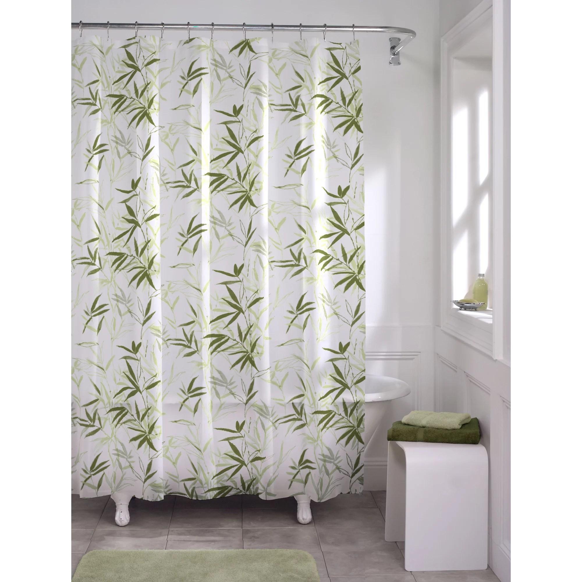 maytex zen garden peva vinyl shower curtain green 70 x 72 walmart com