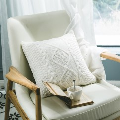 Crochet Christmas Chair Covers Western Rocking Clearance Throw Pillows Justdolife Knitted Super Soft Solid Departments