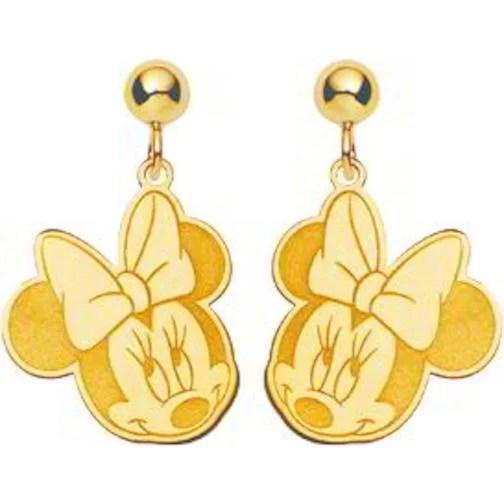 14K Gold Disney Minnie Mouse Dangle Earrings Jewelry