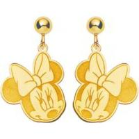 14K Gold Disney Minnie Mouse Dangle Earrings Jewelry