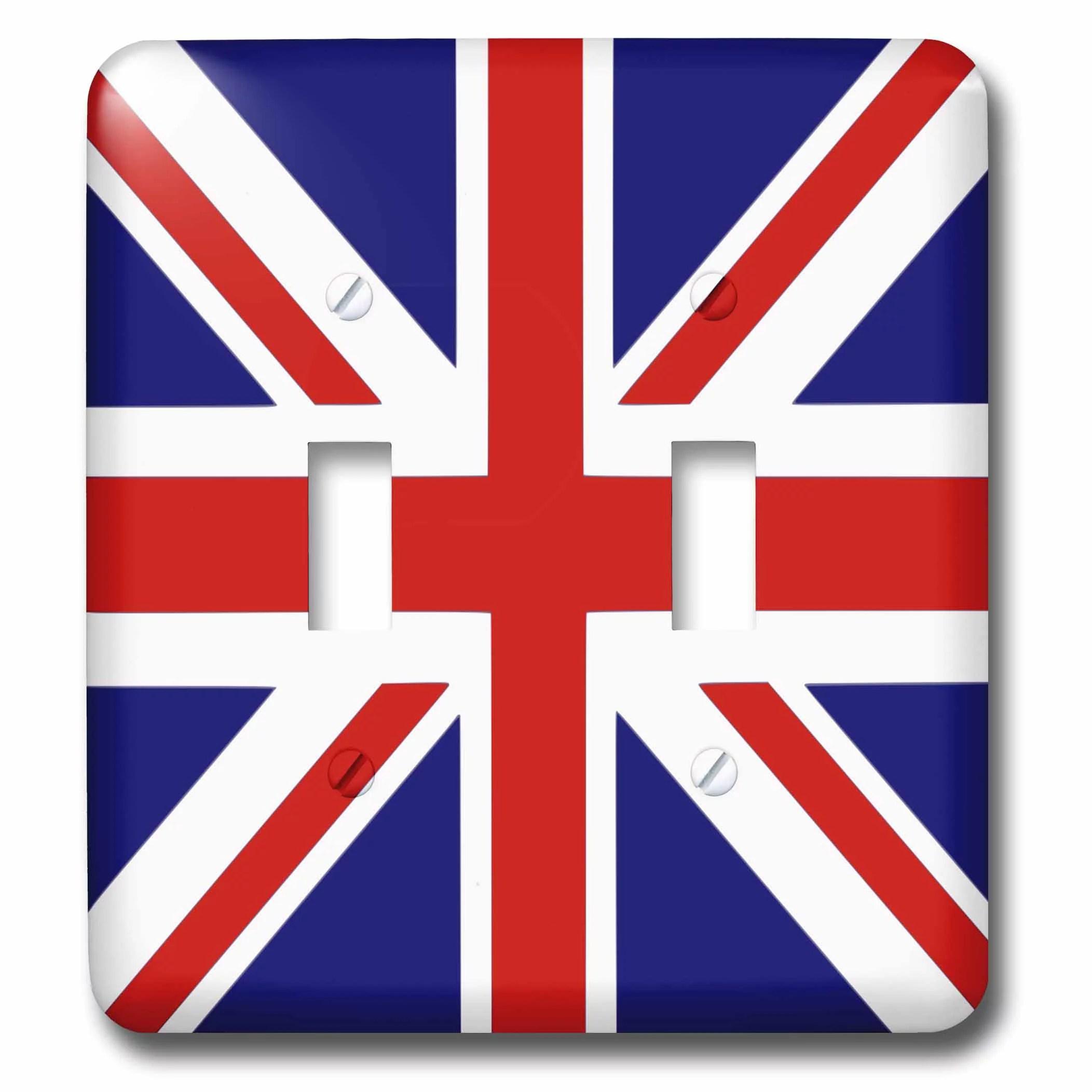 3drose british flag red
