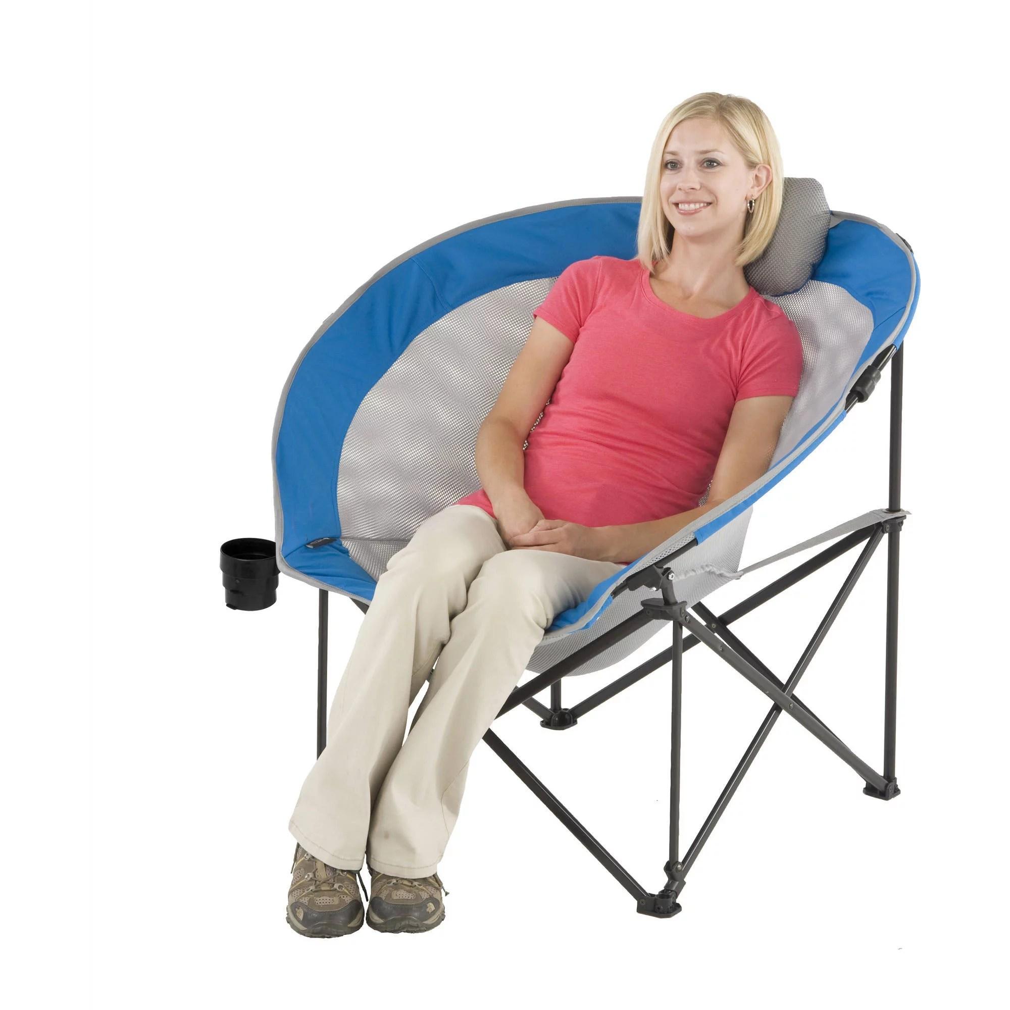 walmart camp chair covers wedding aberdeen ozark trail oversized cozy blue com