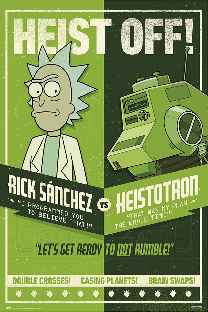 rick and morty tv show poster season 4 heist off rick morty poster poster strip set