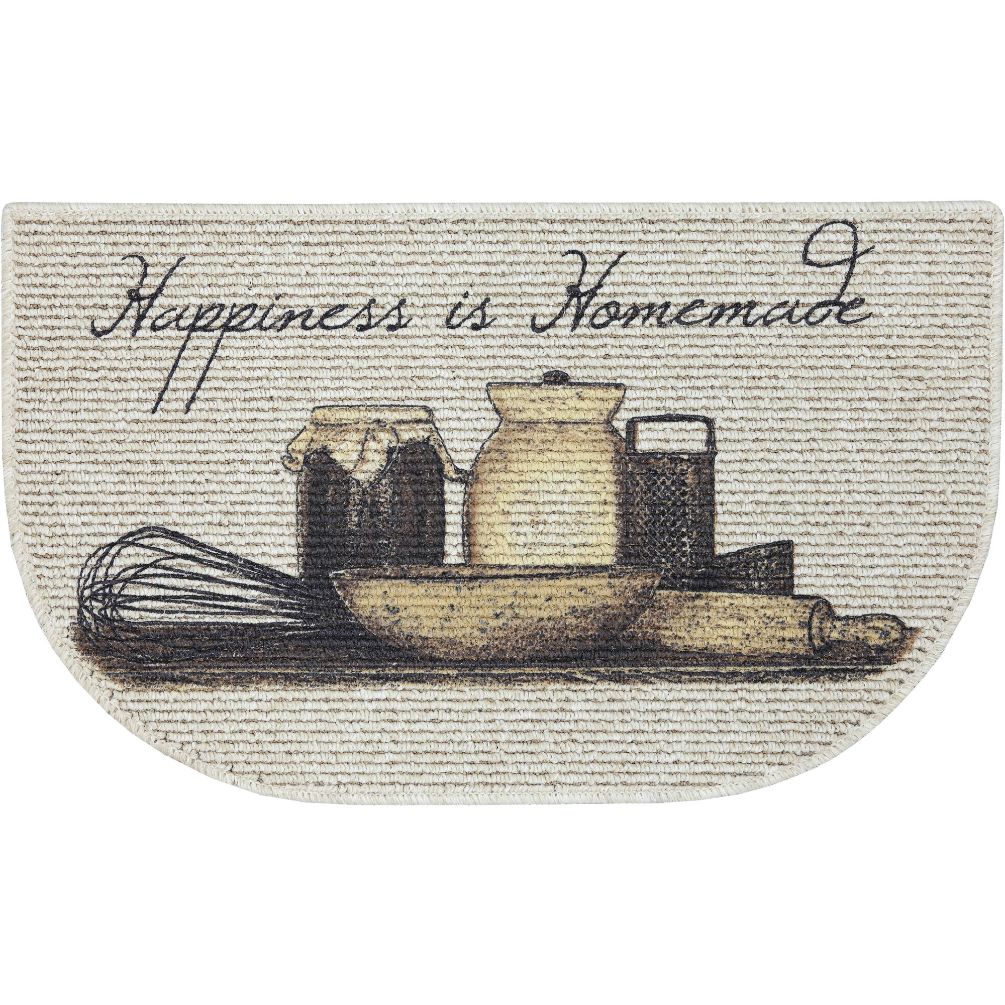 kitchen mats walmart trash can mainstays happiness is homemade printed slice mat 18 x 30 com