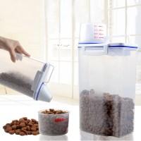 4.4LB Plastic Pet Food Storage Container Dog Cat Dry Food ...