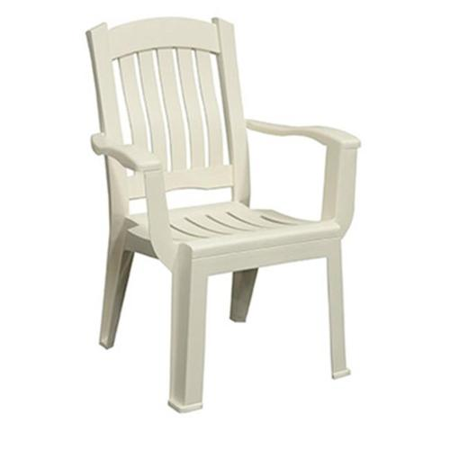 Adams Mfg Corp Brentwood High Back Chair White Walmart