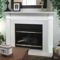 Pearl Mantels Berkley Wood Fireplace Mantel Surround ...