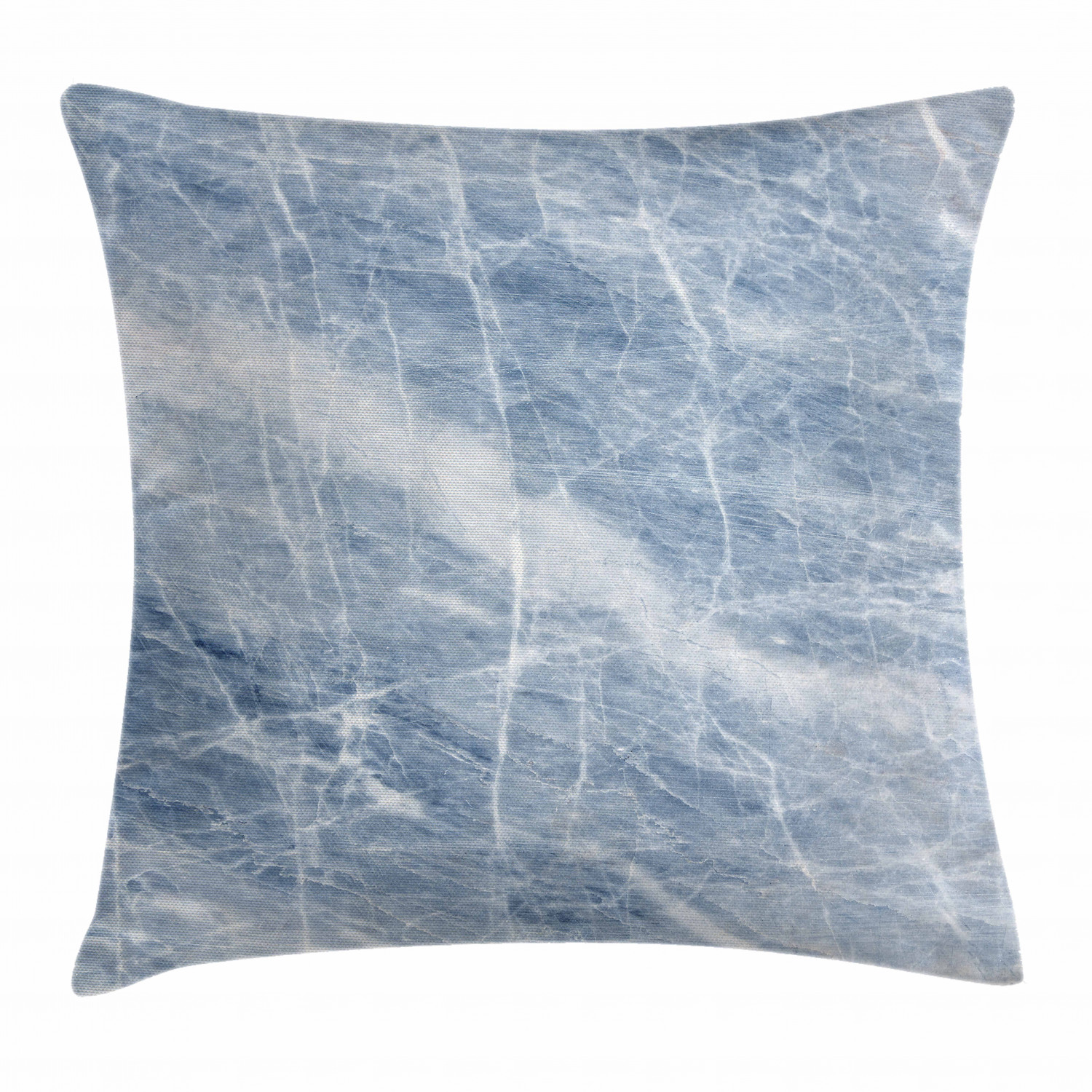 marble throw pillow cushion cover pale blue marble pattern with white cracks on its surface geography stone decorative square accent pillow case 24