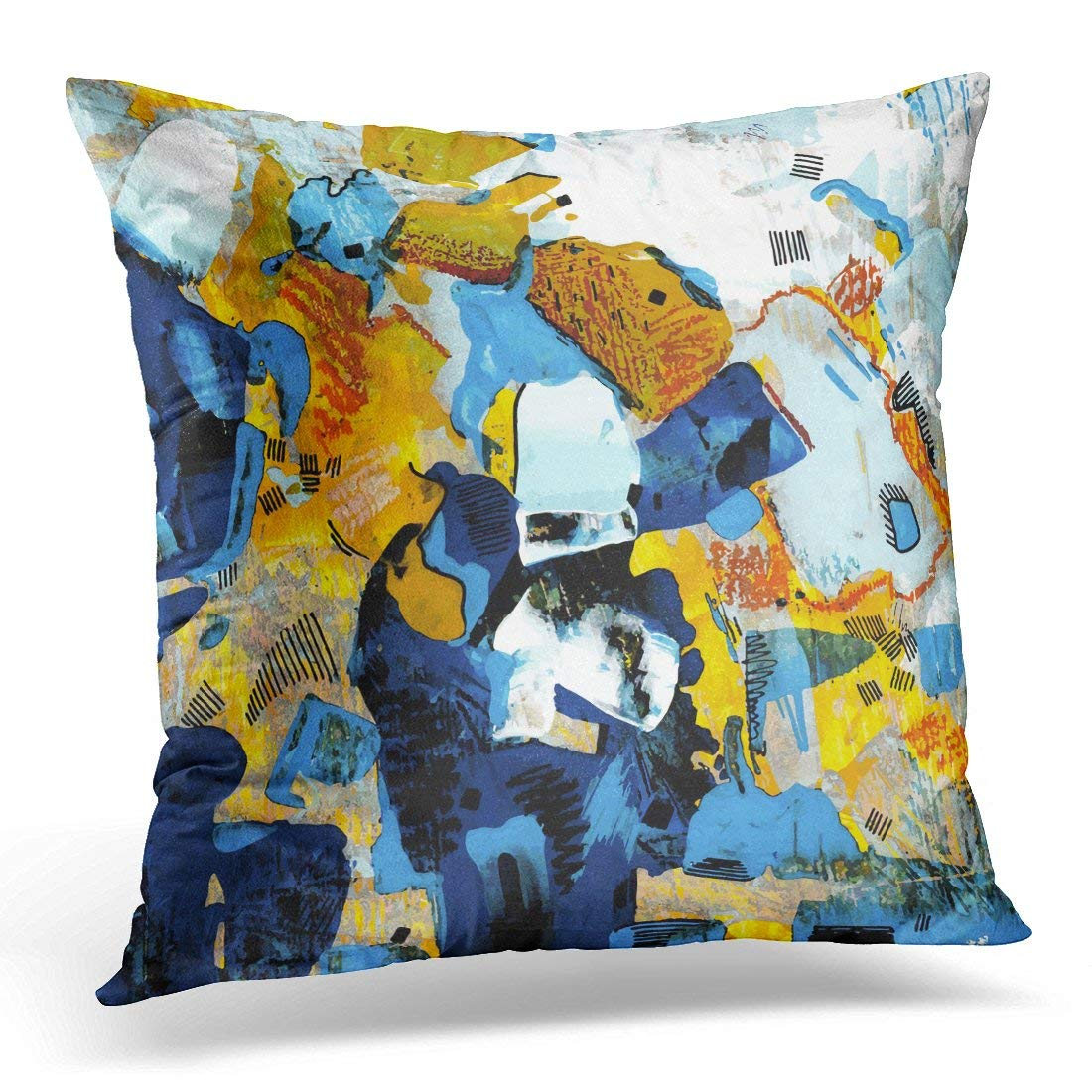 arhome colorful oil painting abstract grunge graphic watercolor pillow case pillow cover 20x20 inch