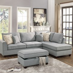 Large Plush Sectional Sofa 2 Seater Online Delhi Beautiful Design 3 Piece Set Light Grey Color Dorris Fabric Crafted Pillows Reversible Chaise Storage Ottoman Walmart Com