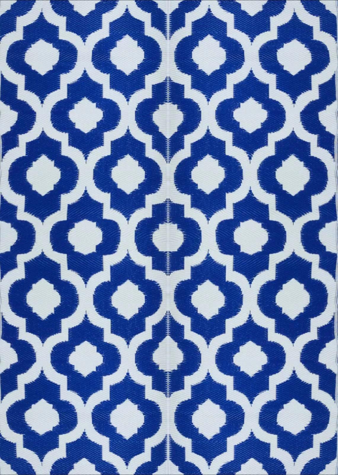 balajeesusa 2 pack 5 x7 indoor outdoor plastic straw patio rugs rv camping rug reversible mat wholesale price dark nv blue 4491