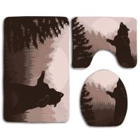 GOHAO Nature Silhouette Wild Bear in Jungle Woodland at ...
