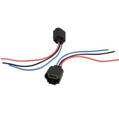 2pcs 12v 3 9w h13 9008 3 wire harness headlight fog light bulb sockets for car [ 1100 x 1100 Pixel ]