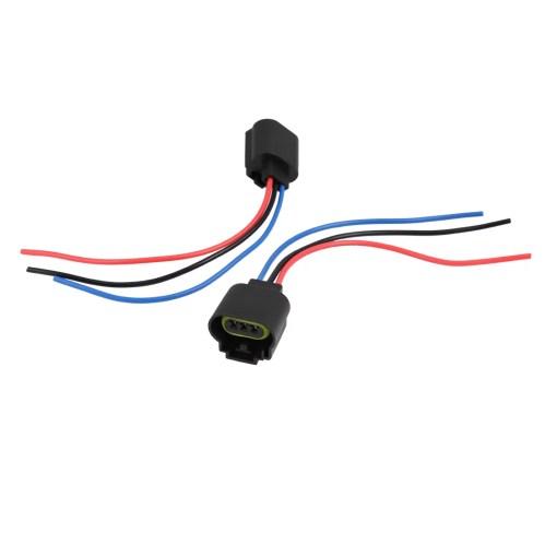 small resolution of 2pcs 12v 3 9w h13 9008 3 wire harness headlight fog light bulb sockets for car