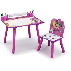 Minnie Table And Chairs Tub Chair Ikea Mouse Playroom Solution By Delta Children Walmart Com