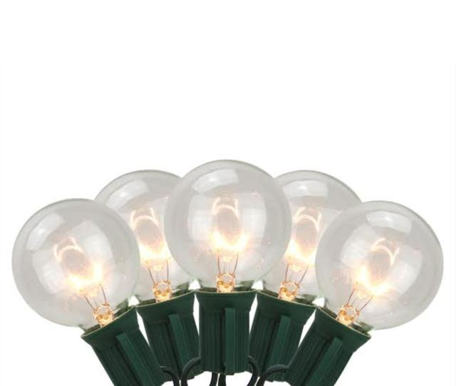 Set Of  Battery Operated Clear Mini Christmas Lights White Wire Walmart Com