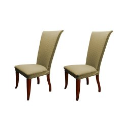 Dining Chair Covers In Store Kitchen Table And Chairs With Wheels Linen Basket Weave Texture Cover Stretch Form Fitting Fabric Parson Slipcover Set Of 2 Taupe Walmart Com