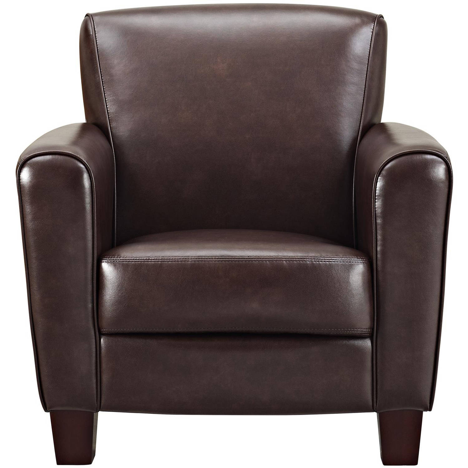 Leather Club Chair Club Chair Brown Leather Casual Contemporary Wide Arm