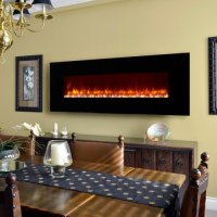 Dynasty Contemporary Electric Fireplace LED Wall Mount ...