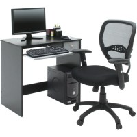 Home Office Computer Desk, Black and Gray - Walmart.com