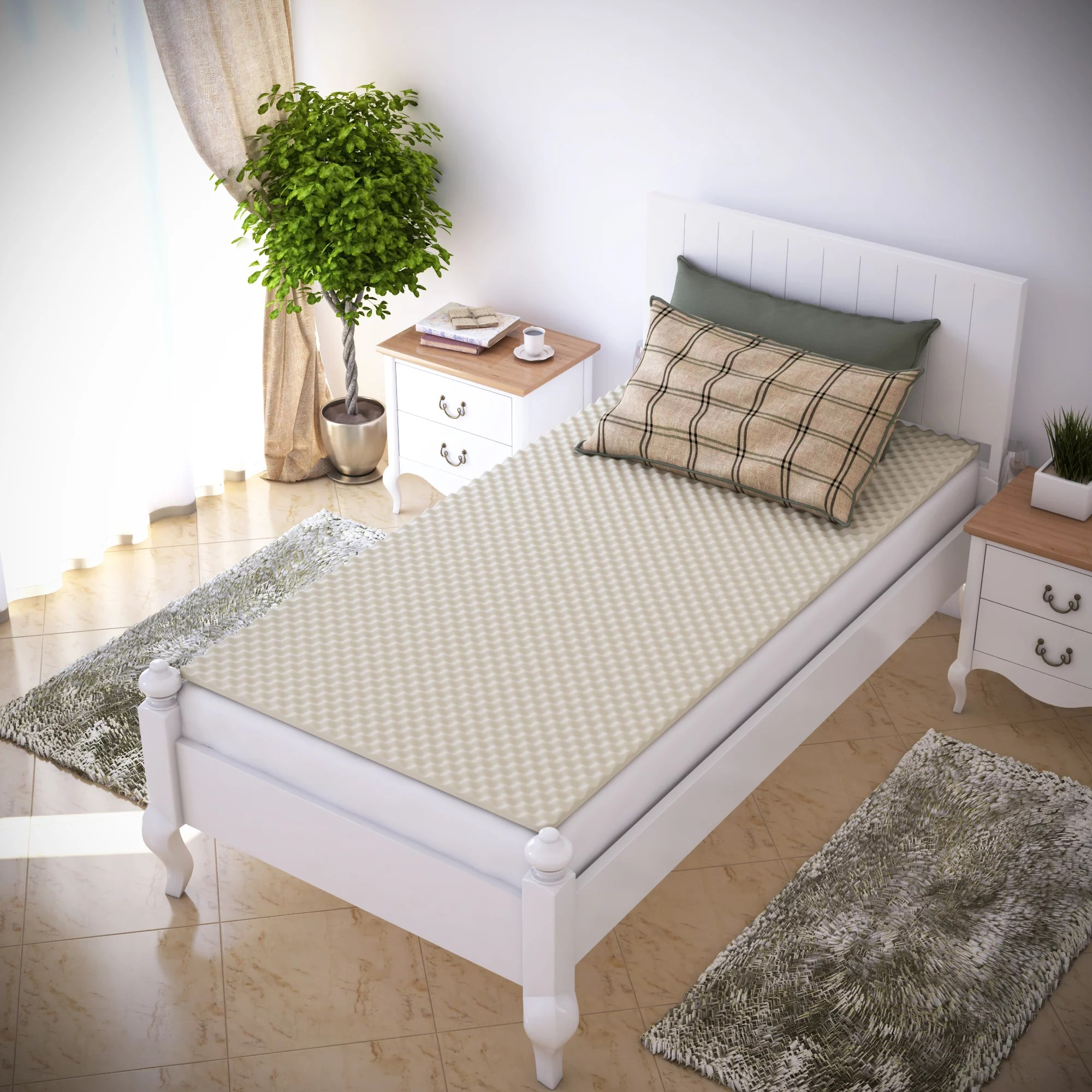 egg crate mattress topper twin and twin xl designed to add extra comfort and support by everyday home