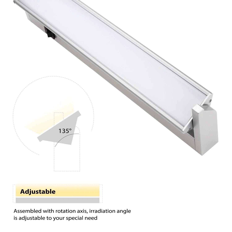 torchstar 14 inch 110v hardwired multi function led under cabinet lighting for kitchen warm white