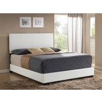 Ireland Queen Faux Leather Bed, White - Walmart.com