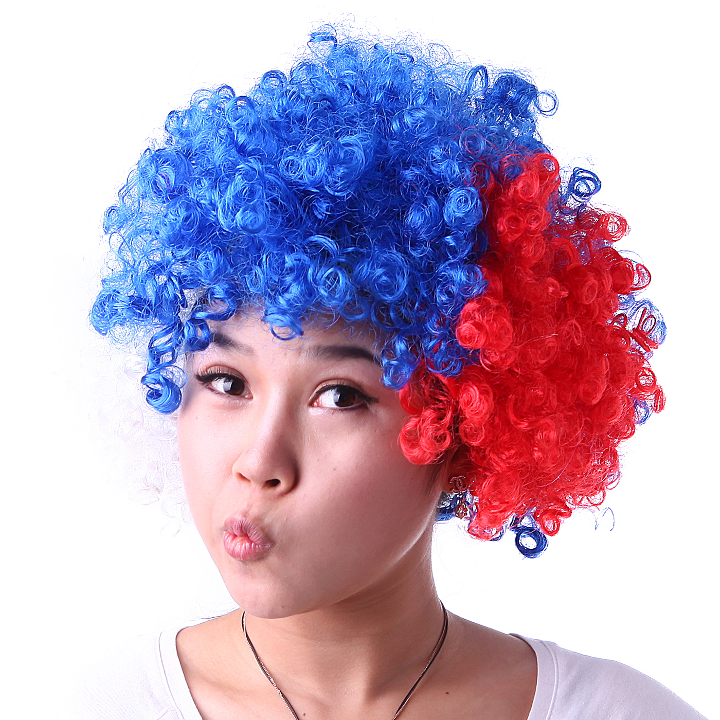 hde neon color afro curly clown