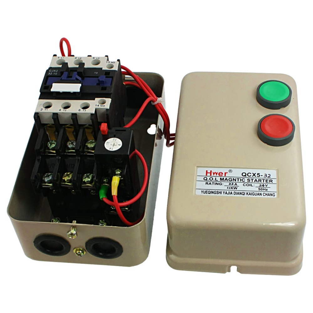 medium resolution of ac 24v coil contactor 11 kw 15 hp 3 phase motor control magnetic starter 14 22a walmart com