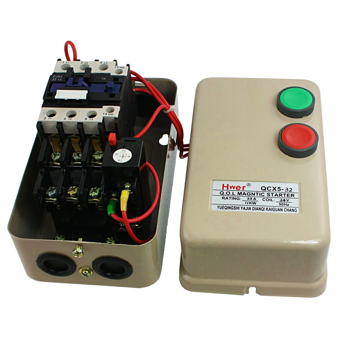 hight resolution of ac 24v coil contactor 11 kw 15 hp 3 phase motor control magnetic starter 14 22a walmart com