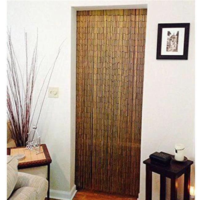 bamboo54 handmade room divider curtain with beads door shoji room divider black brown walmart com