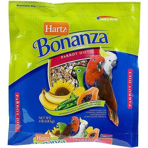 Hartz 97619 4 lb Nutrition Bonanza Parrot and Other Large