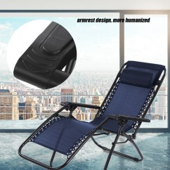 Portable Reclining Chair White Chairs For Bedroom Folding Ymiko Outdoor Camping Lounge Beach Garden Recliner With Armrest Walmart