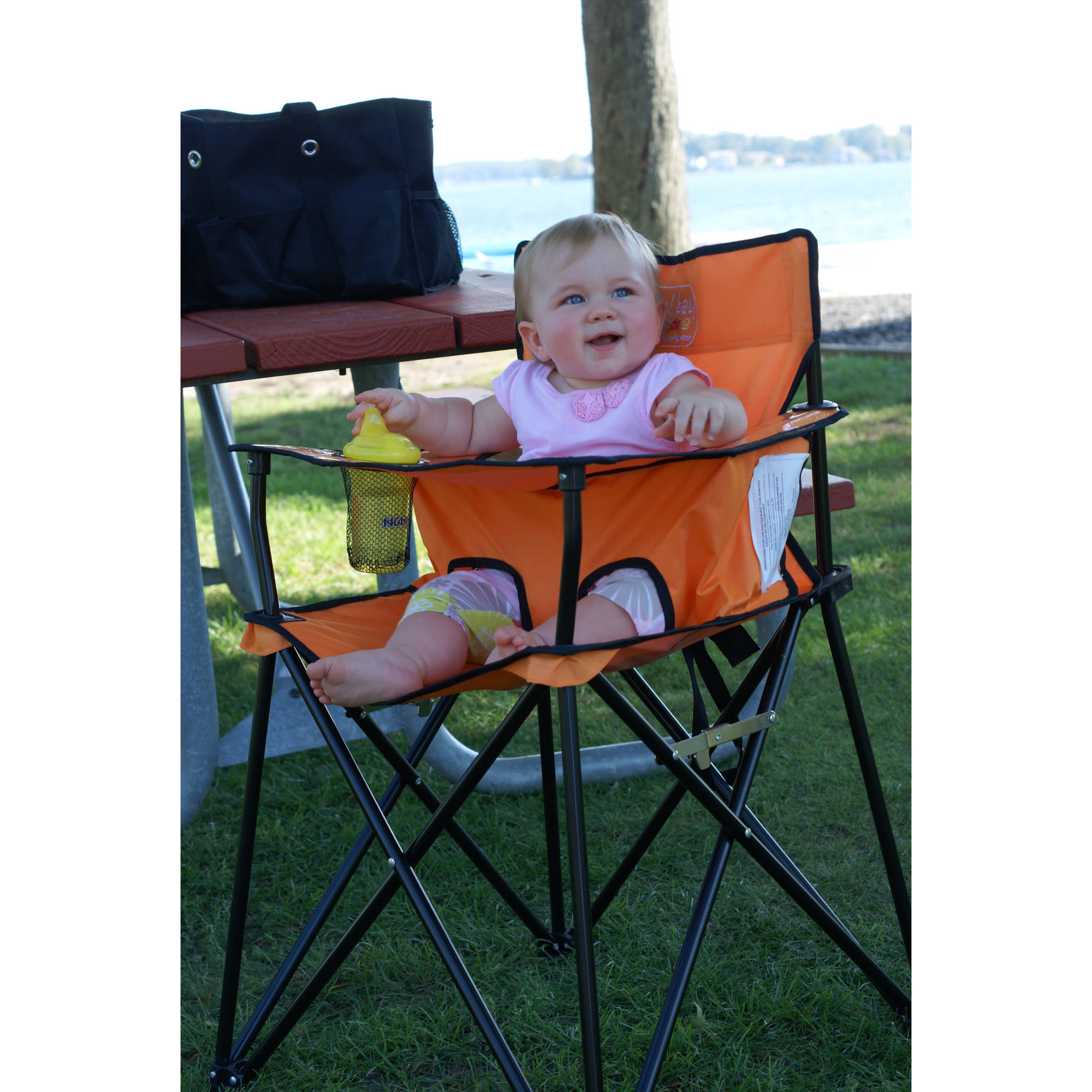 baby camp chair swivel replacement parts ciao portable high sage walmart com
