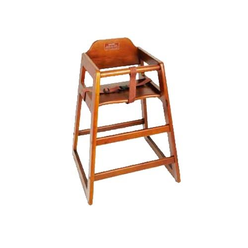 restaurant style high chair pull out bed twin winco chh 104 walnut wood walmart com