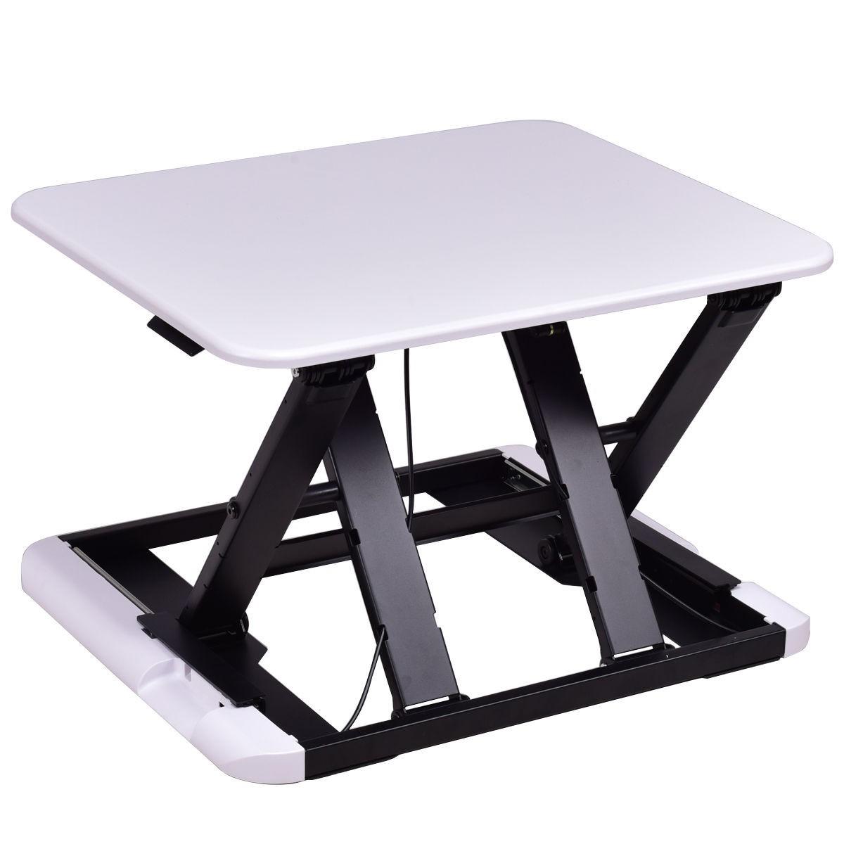 Slim 8 Adjustable Standing Folding Lap Desk  White
