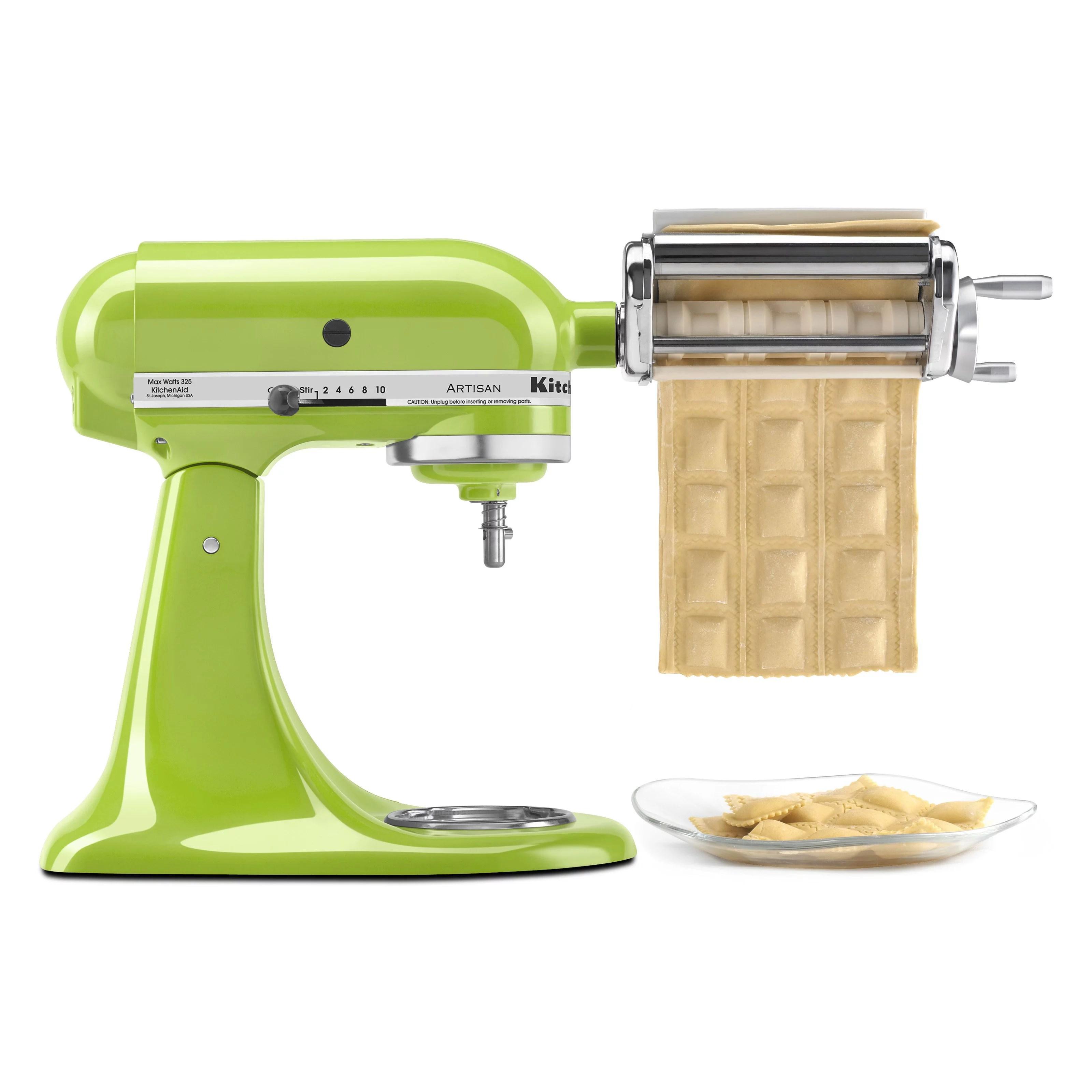 kitchen aid mixer attachments pegasus sinks kitchenaid ravioli maker stand attachment krav walmart com