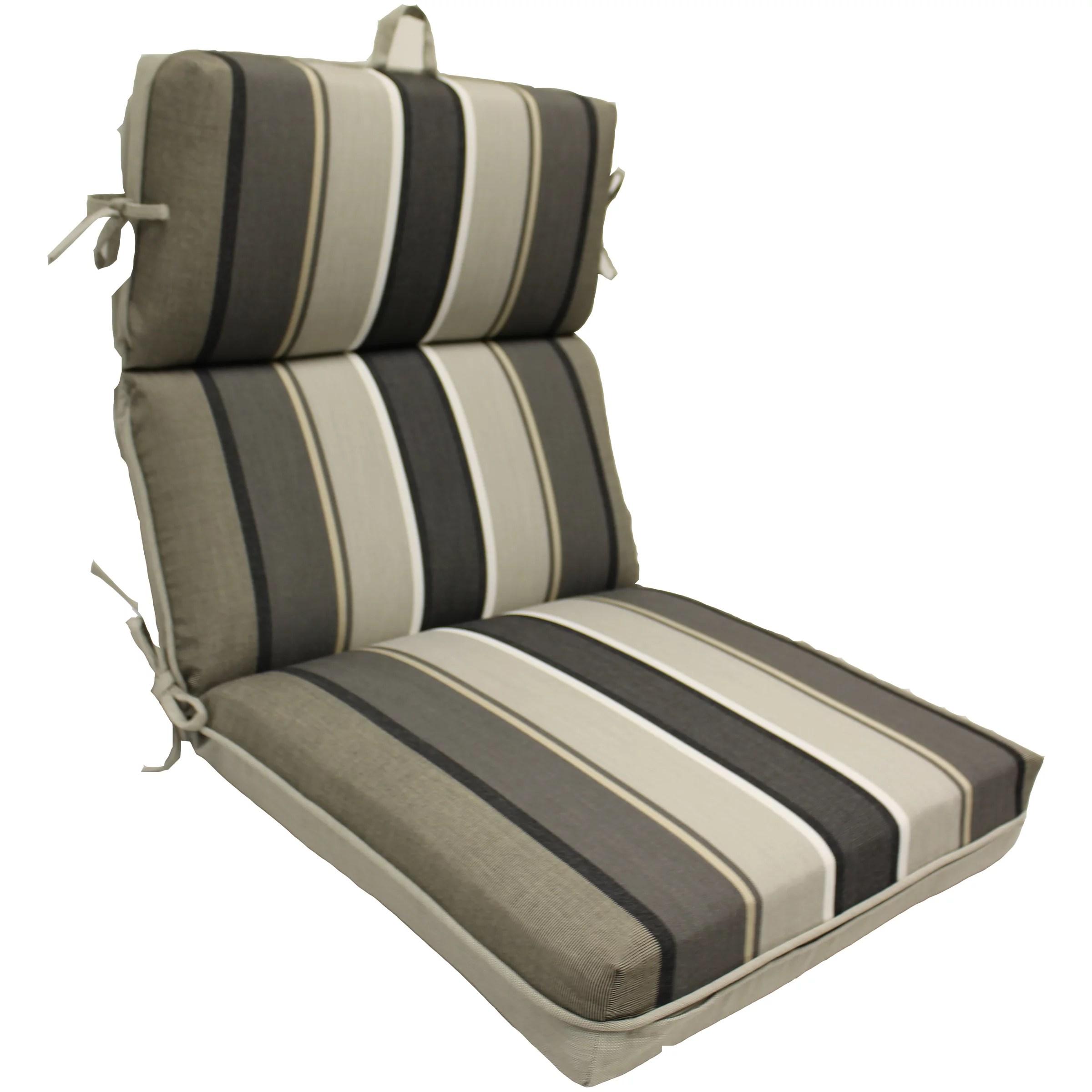 better homes and gardens linen reversible stripe 1 piece dining chair cushion gray 21 x 44 x 4 75 walmart com