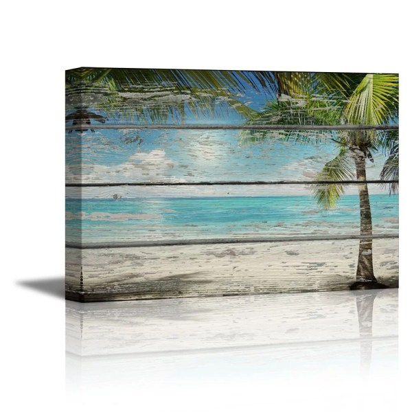 Wall26 - Canvas Prints Wall Art Tropical Beach With Palm