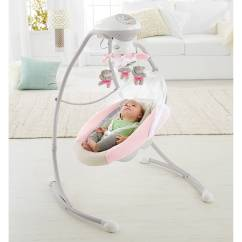 Baby Chair Swing Pink Circle Furniture Chairs Fisher Price My Little Snugabear Cradle 39n