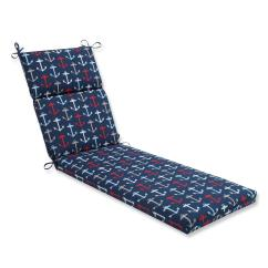 Blue Lounge Chair Cushions Body Solid Roman Review 72 5 Quot And Red Navy Anchor Decorative Outdoor Patio