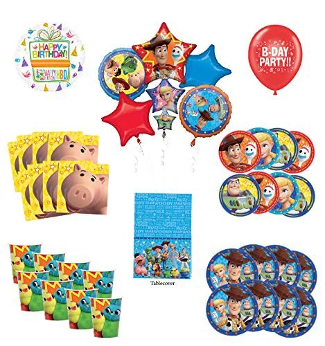 toy story birthday party supplies 8 guest decoration kit with woody buzz lightyear and friends balloon bouquet
