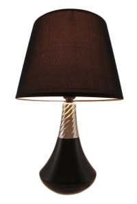 Retro Genie Bottle Style Black Ceramic Table Lamp ...