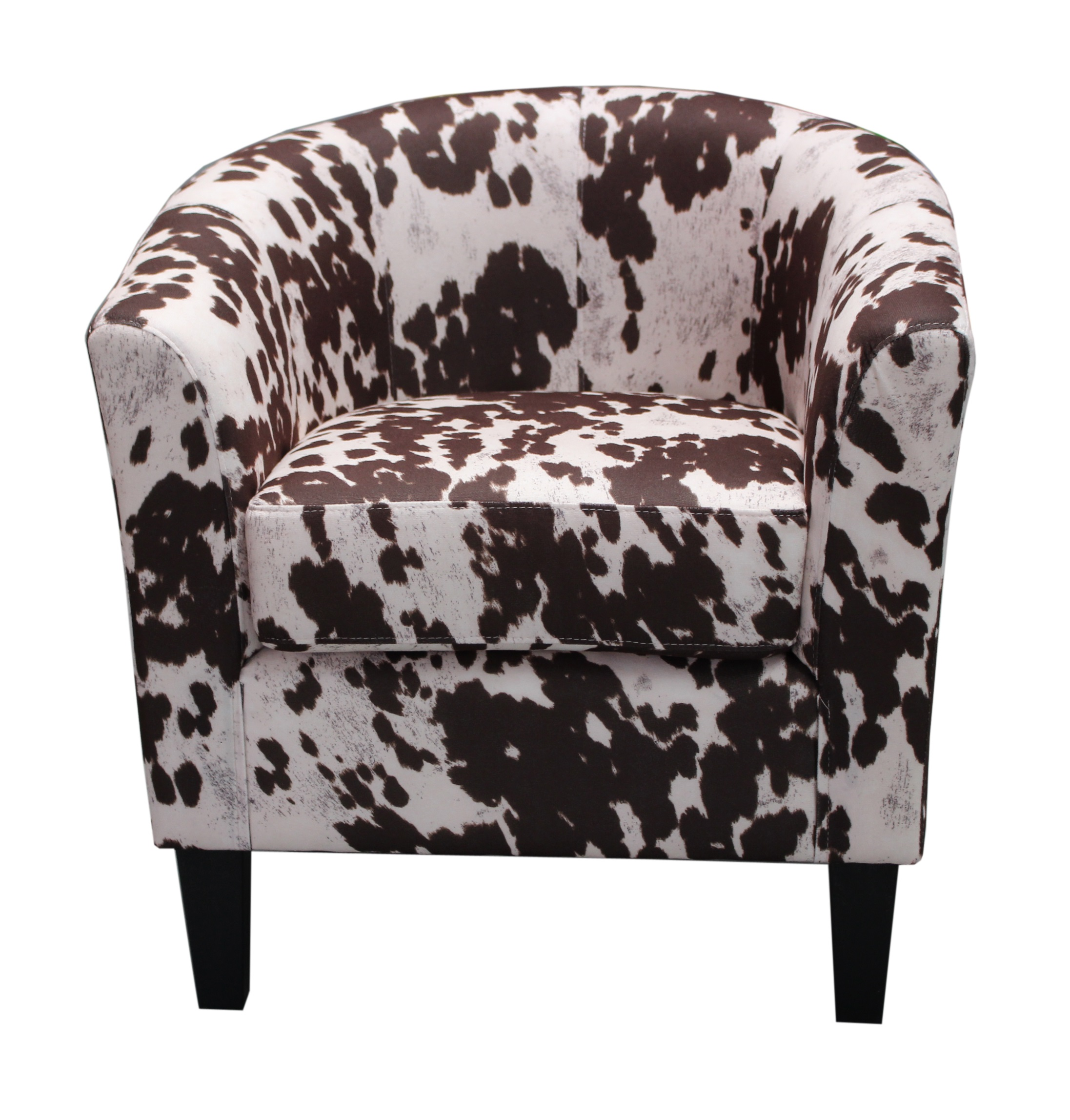 cowhide print accent chair papasan accessories us pride furniture contemporary western